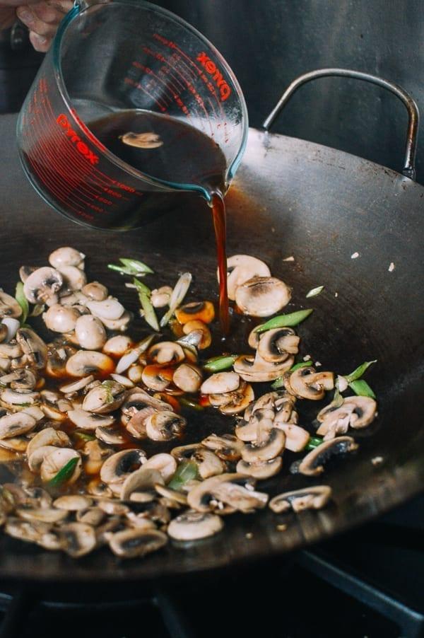 Beef and Mushroom Stir-Fry Rice Plate, by thewoksoflife.com
