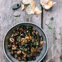 Cantonese-Style Periwinkle Snails in Black Bean Sauce, by thewoksoflife.com