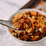 Easy Pork Belly & Mushroom Rice Bowl, by thewoksoflife.com
