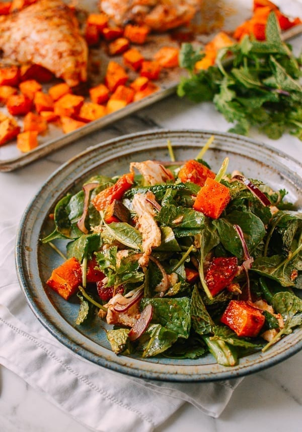Thai Chicken Salad with Red Curry Butternut Squash, by thewoksoflife.com