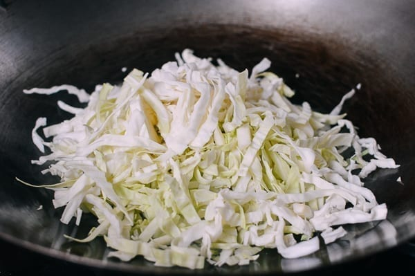 Stir Fried Cabbage with Glass Noodles, by thewoksoflife.com