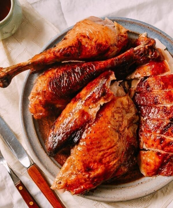 Honey Glazed Cantonese Turkey, by thewoksoflife.com