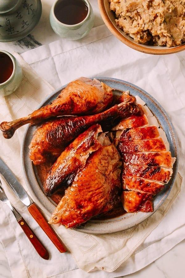 Honey Glazed Cantonese Turkey, by thewoksoflife.com