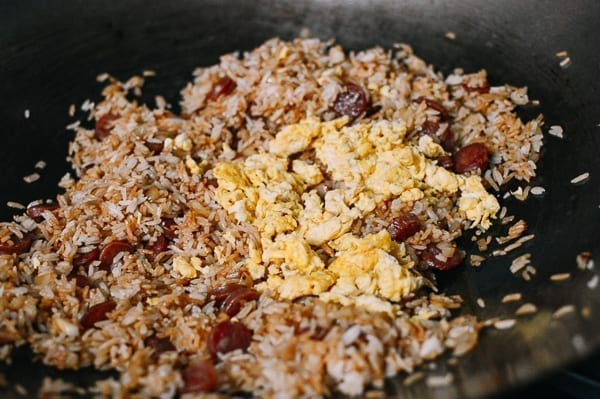 Chinese Sausage Fried Rice (Lop Cheung Chow Fan), by thewoksoflife.com