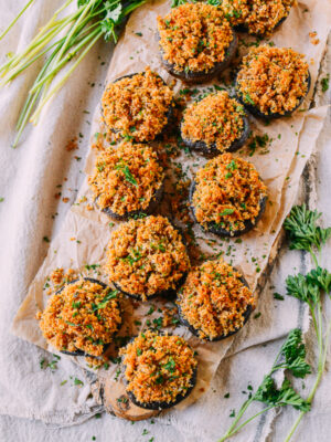 Classic, Easy Stuffed Mushrooms, by thewoksoflife.com