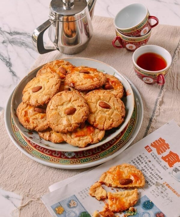Old-Fashioned Chinese Almond Cookies, by thewoksoflife.com