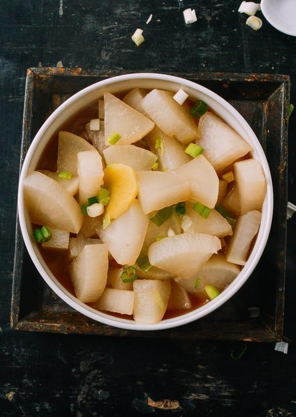 Boiled Daikon Radish The Woks Of Life