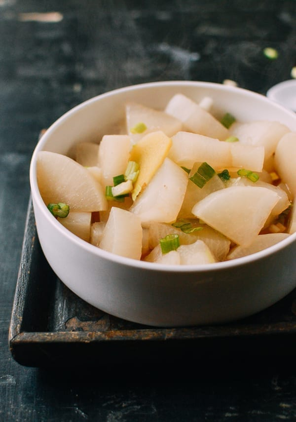 Boiled Daikon, by thewoksoflife.com
