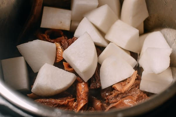 Cantonese Instant Pot Braised Beef with Radish, by thewoksoflife.com