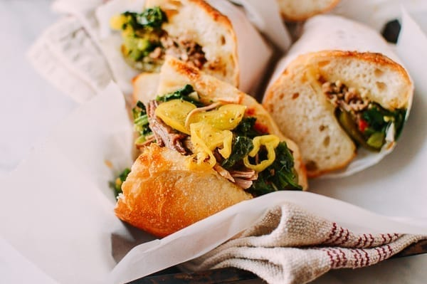 Italian Pork Sandwiches, by thewoksoflife.com