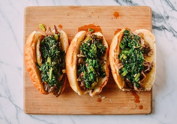Philly Pork Sandwiches, by thewoksoflife.com