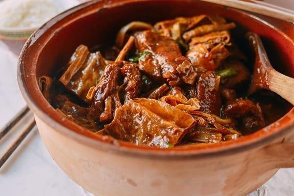 Pork Rib Stew with Foo Jook and Chee Hou Sauce, by thewoksoflife.com