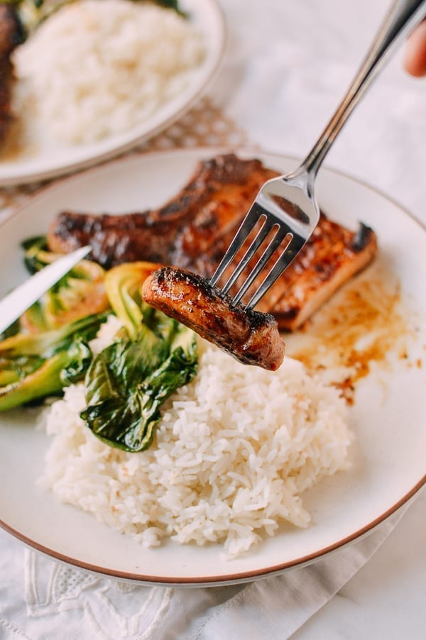 Asian Pork Chops, by thewoksoflife.com
