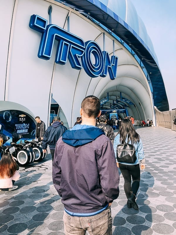 Shanghai Disneyland Tron by thewoksoflife.com