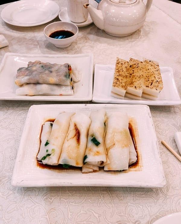 Dim Sum Rice Noodle Rolls