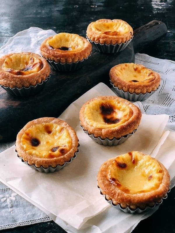 Portuguese Custard Tarts (Pasteis de Nata), by thewoksoflife.com