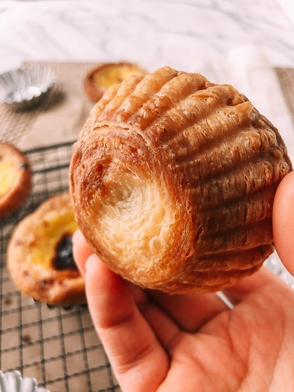 Portuguese Custard Tart shell, by thewoksoflife.com