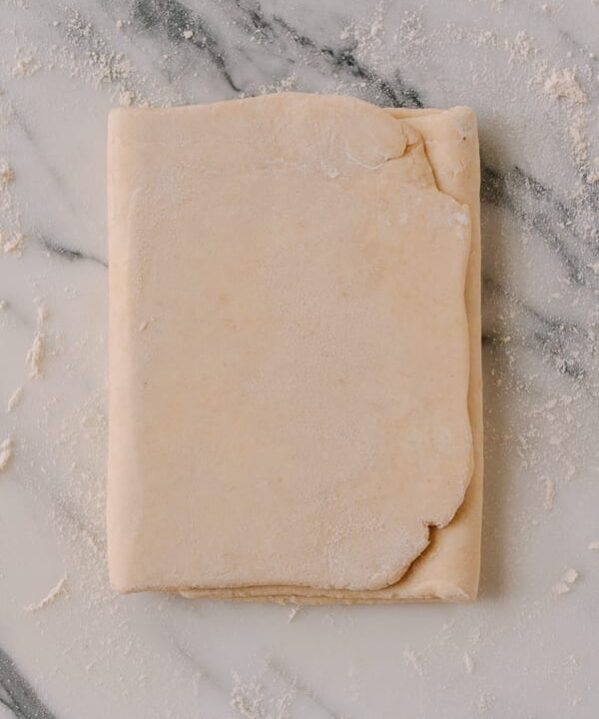 Easy Rough Puff Pastry, by thewoksoflife.com