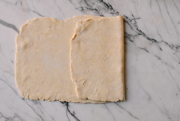 folding Rough Puff Pastry, by thewoksoflife.com