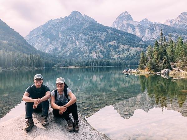 Sarah & Kaitlin from the Woks of Life in Grand Teton National Park, thewoksoflife.com