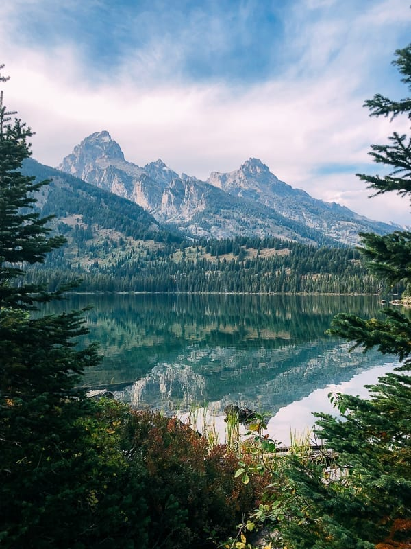 Taggart Lake Grand Tetons View