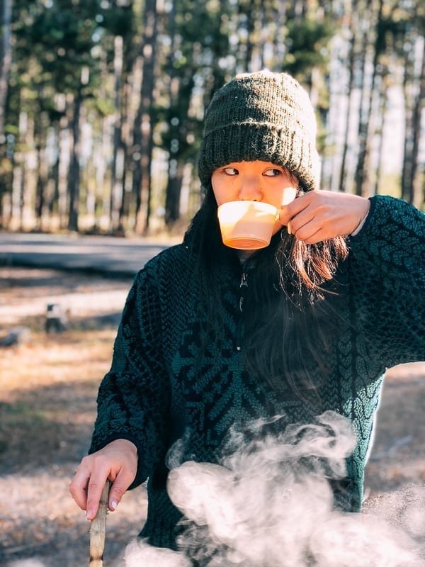 Camping coffee and breakfast, thewoksoflife.com