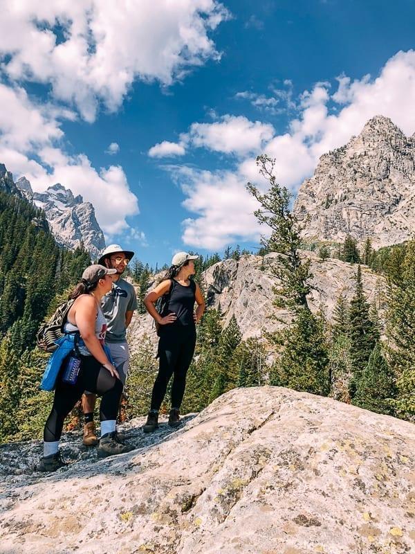Hiking Jenny Lake Trail, mountain view