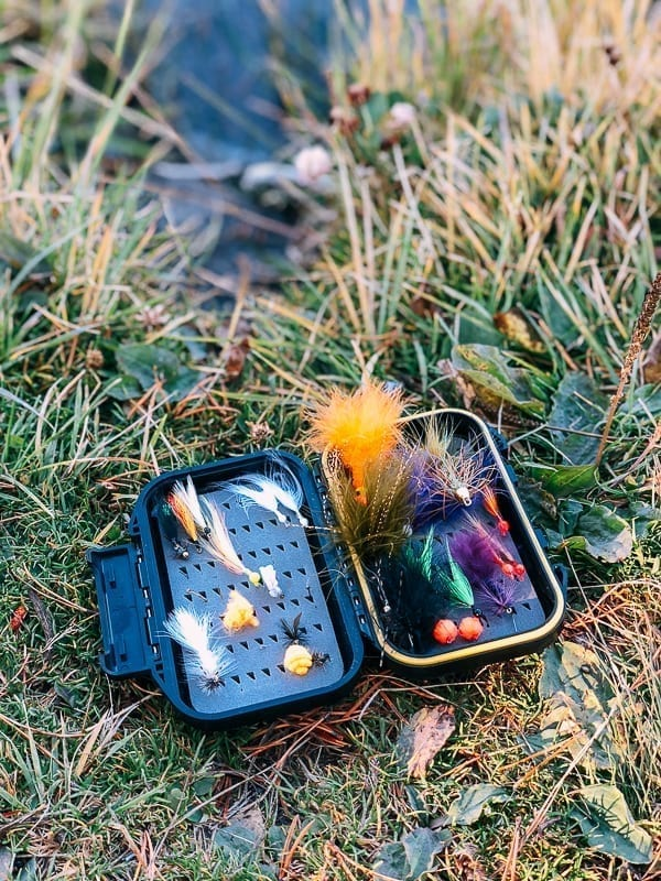 Box of fly fishing flies, thewoksoflife.com