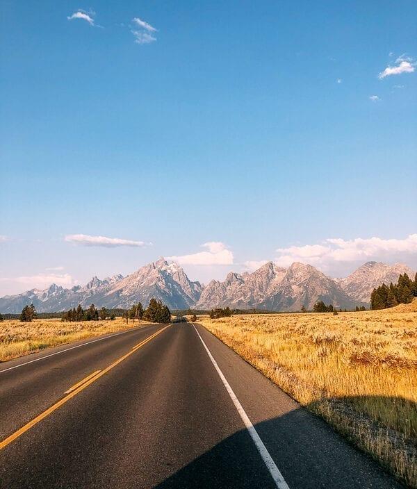 Driving into Grand Teton National Park, thewoksoflife.com