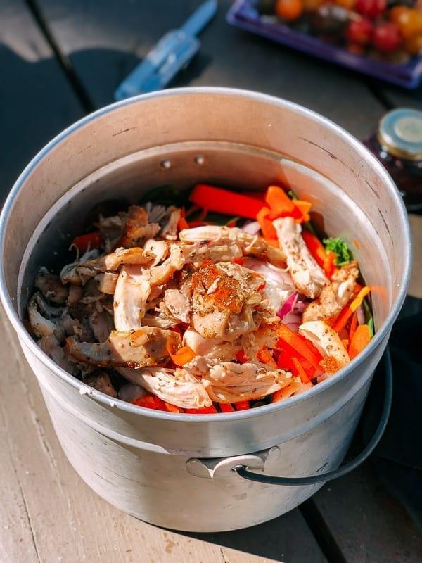 Salad in a bucket, thewoksoflife.com