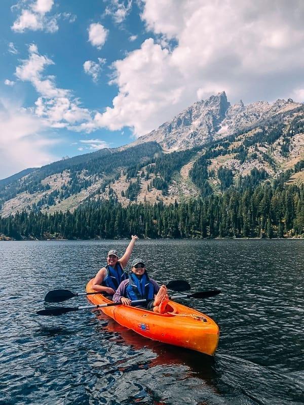 Kayaking Jenny Lake, thewoksoflife.com