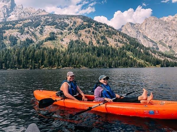 On the water at Jenny Lake, thewoksoflife.com