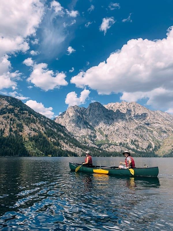 Canoeing Jenny Lake, thewoksoflife.com