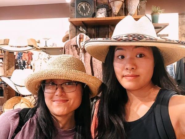 Trying on Hats in Jackson Hole, thewoksoflife.com