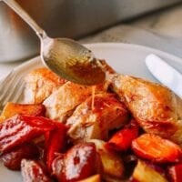 Baked Chicken Pan Drippings, thewoksoflife.com