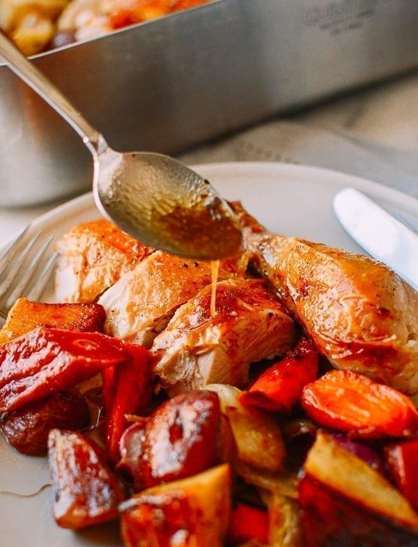 Baked Chicken Pan Drippings, thewoksoflife.com