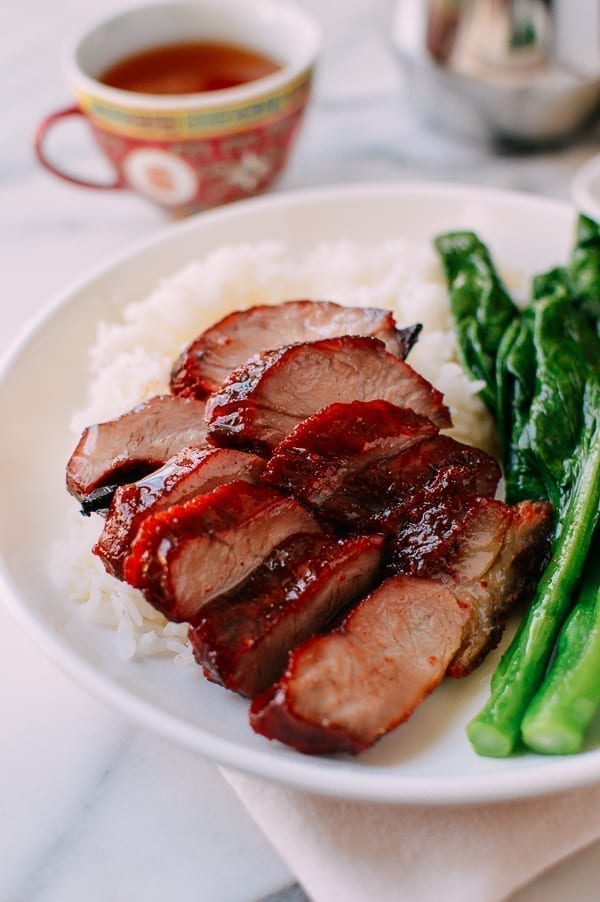 Char Siu over rice, thewoksoflife.com