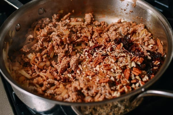 Making Chiles Rellenos Filling, thewoksoflife.com
