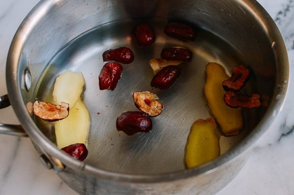 Making Ginger Tea with Red Dates, thewoksoflife.com