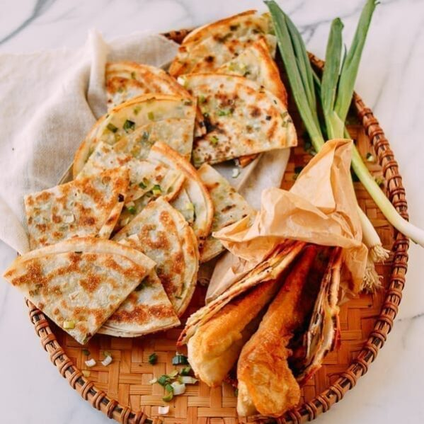 Easy Scallion Pancakes, thewoksoflife.com