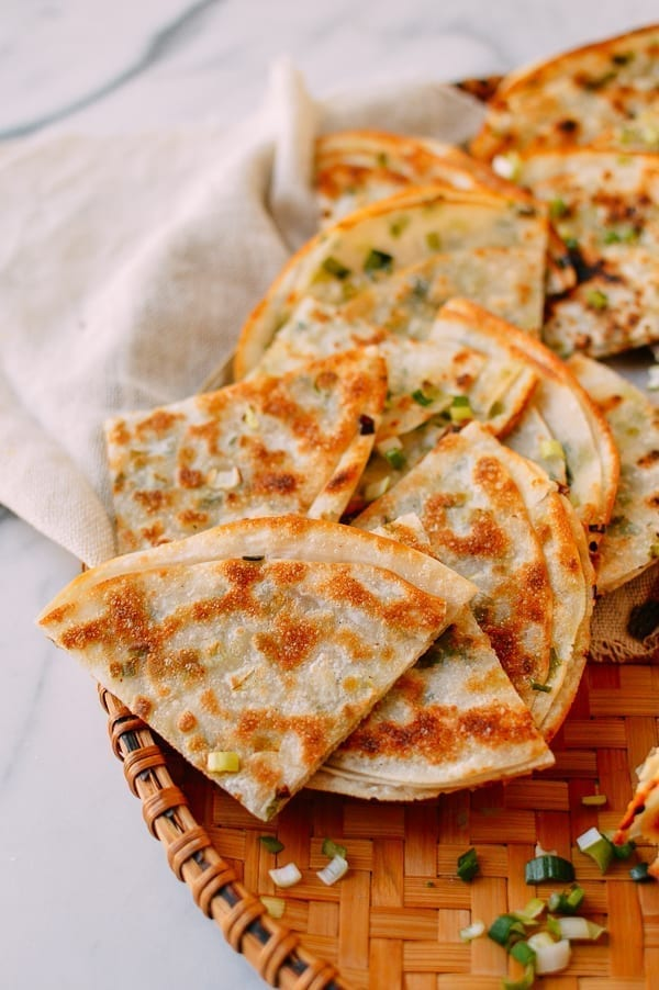 Shortcut Scallion Pancakes, thewoksoflife.com
