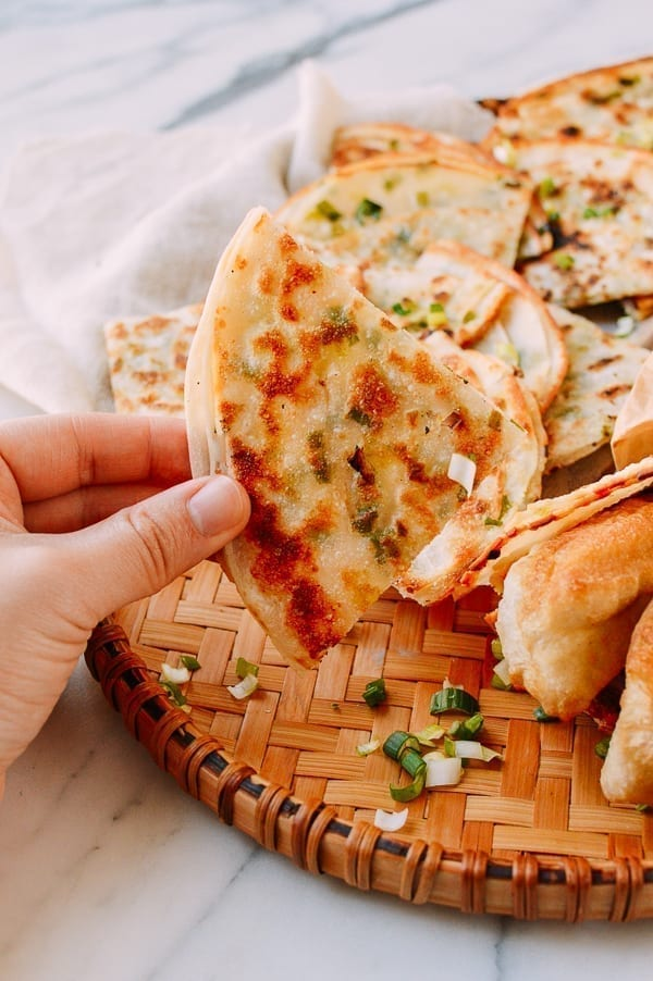 4 Ingredient Scallion Pancakes, thewoksoflife.com