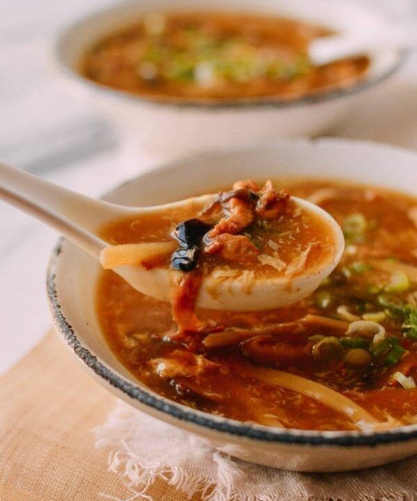 Bowl of Hot and Sour Soup, thewoksoflife.com