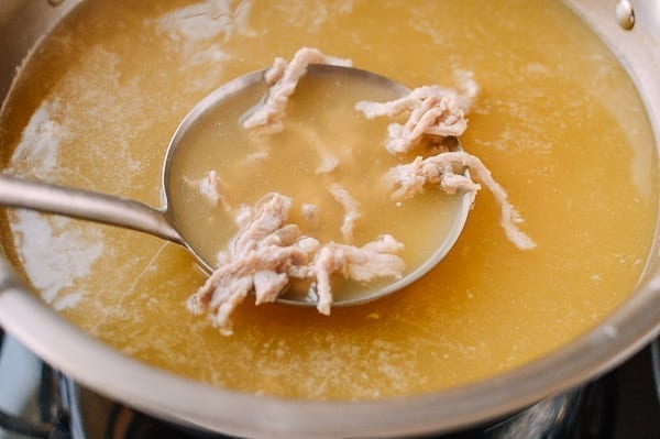 Chicken Stock with Pork Added, thewoksoflife.com