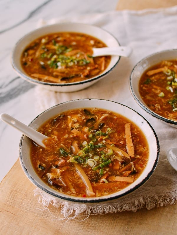 Serving Hot and Sour Soup, thewoksoflife.com