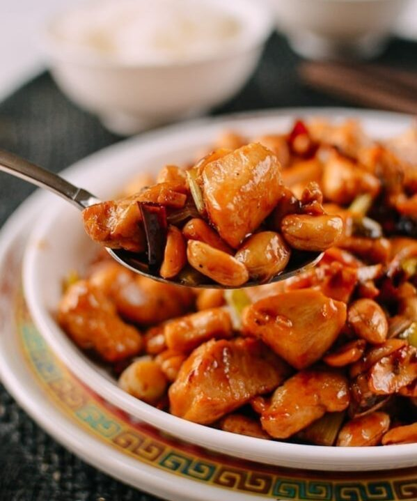 Serving kung pao chicken, thewoksoflife.com