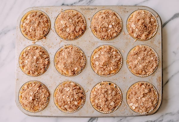 1 dozen mango muffins before baking, thewoksoflife.com