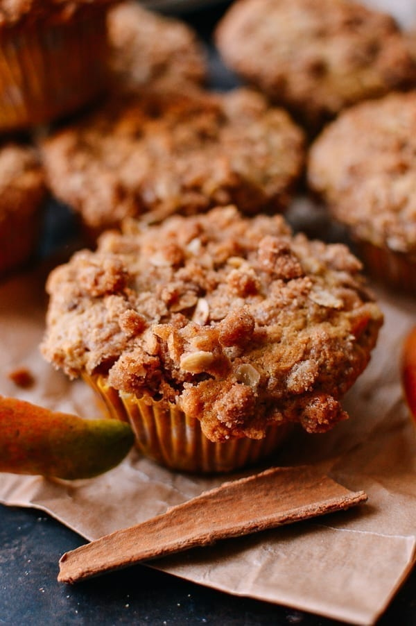 Close-up of Mango Muffins, thewoksoflife.com