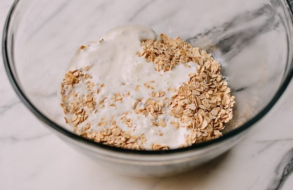 Soaking oats in buttermilk, thewoksoflife.com