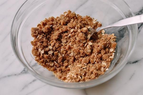 Oatmeal crumb topping, thewoksoflife.com